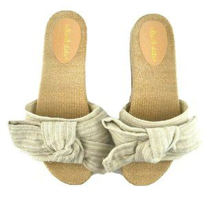 Altar'd State Big Bow Espadrille Slide Sandals